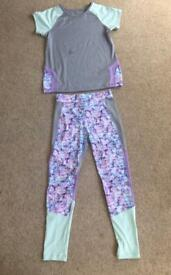 Top and leggings sports set
