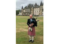 Bagpiper available for weddings