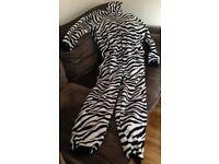 Zebra Print Onesie Size Medium