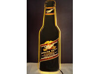 RARE lLLUMINATED MILLER BEER SIGN: MAN CAVE, PUB SHED, HOME BAR, POOL TABLE ROOM, SPORTS BAR, BREW
