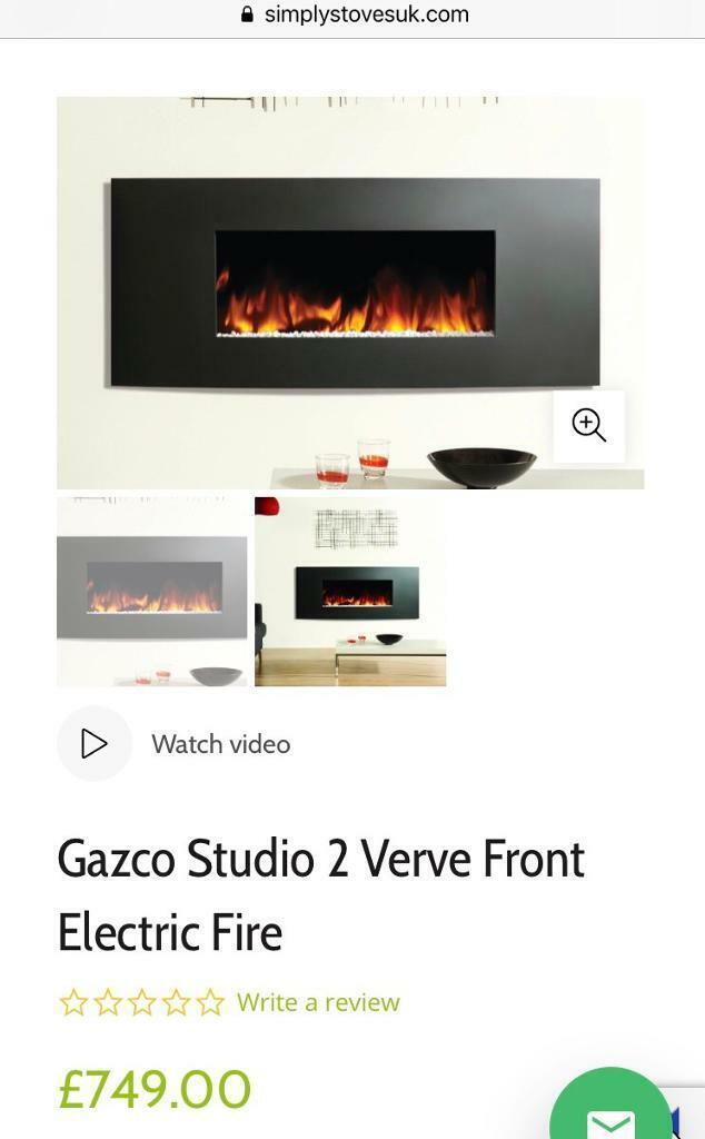 GAZCO Studio 2 Verve Frame (Graphite) Electric LED Fireplace RRP £715-799 |  in Helston, Cornwall | Gumtree