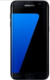 Samsung s7 edge in black emaculate condition no scratches black case fast charger