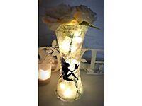 Decorative fairy light vase