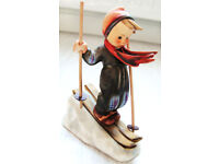 GOEBEL HUMMEL BOY SKIER Goebel M.I. Hummel Figurine, West Germany