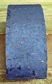 NEW BLUE HALF ROUND COPING / FEATURE BRICKS - 240MM X 120MM X 75MM.