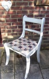 Stunning Regency Dining/Living Room Chair Painted in any colour & reupholstered in any fabric