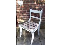 Stunning Regency Chair painted in any colour & reupholstered in any fabric of your choice x 4