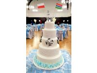 Wedding Cakes, Birthday Cakes, Corporate Cakes, Cupcakes and Decorated Cookies.
