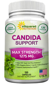 aSquared Nutrition Candida Cleanse - 120 Capsules - Pure Support & Detox Complex
