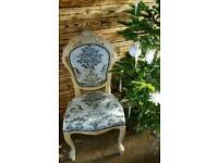 French Louis chair bedroom ivory