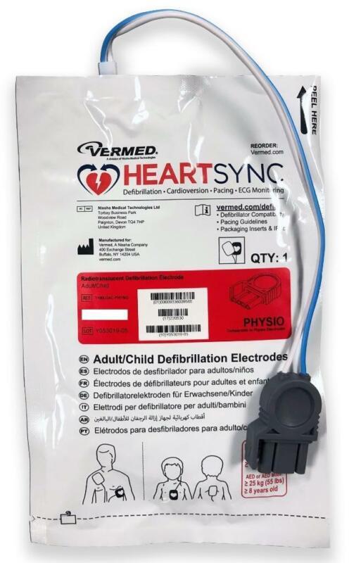 Adult / Child Pads Electrodes for Lifepak 12 15 20 20e 500 1000 REDI-PAK