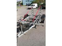 Twin motorcycle trailer fits 2 motorbikes road or off road bikes