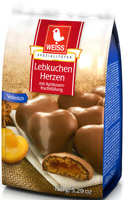 WEISS Milk Chocolate gingerbread apricot filled cookies 150g FREE (Filled Gingerbread)