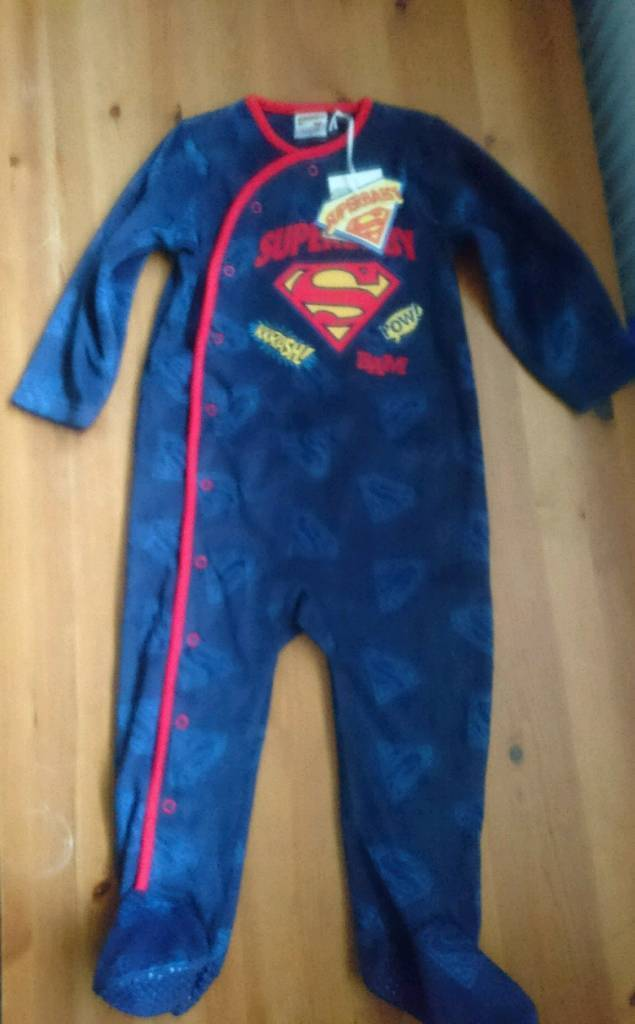 Brand new with tags Fleece onesie dressing gown with feet 18-24 ...
