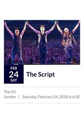 2 x The Script O2 London 24th February 2018 Standing Tickets
