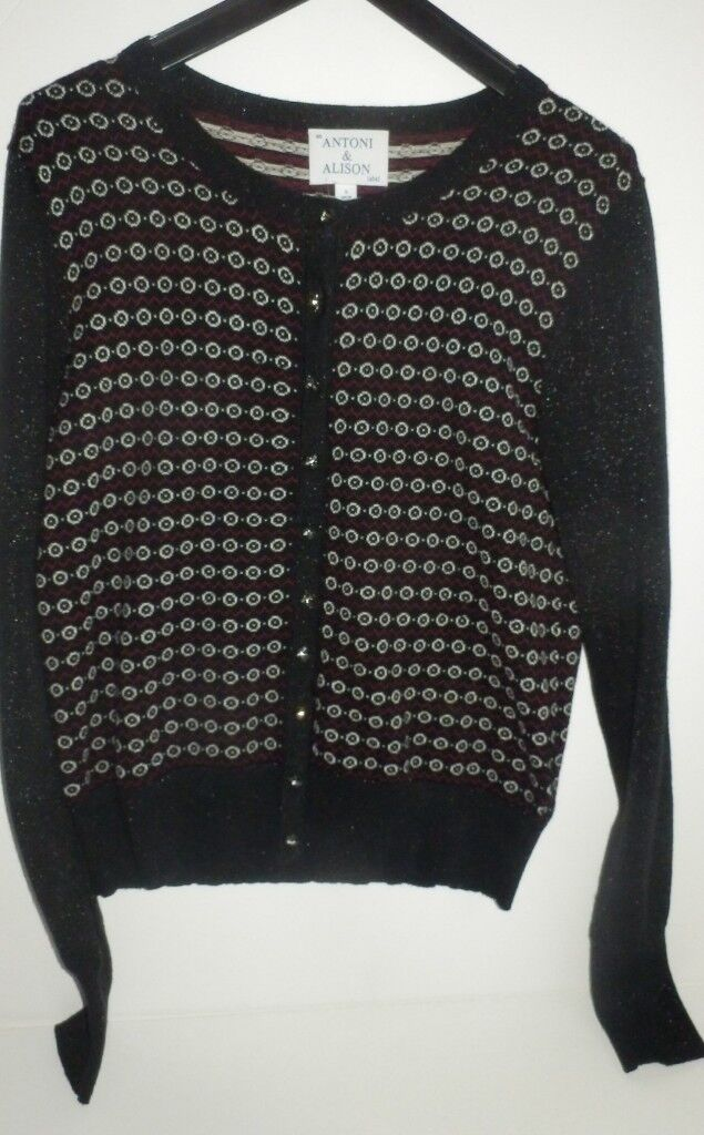 bce9ba338250 Antoni   Alison lurex and crystal button fine knit knitted cardigan