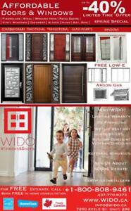 40%off Windows, Doors, Glass Inserts, Limited Time Offer  |We Can Beat Any Quote|