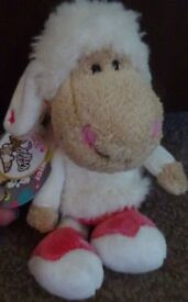 New Tagged Nici Jolly Leroy Plush Sheep Baby Toy Only £2 ideal xmas gift