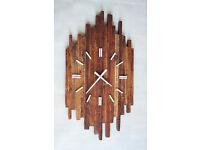 Pallet Wood Wall Clock 'Prim' Old Style Art Industrial Vintage Rustic Shabby