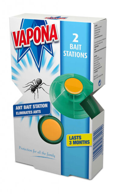 Vapona Ant Bait Station Pack of 2 Gel Ants Trap Last 3 Months A3