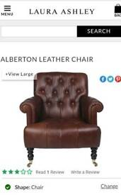 LAURA ASHLEY Alberton Leather arm chair brand new condition was £1300