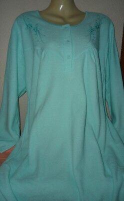 Damen Frottee Nachthemd innen warm angerauht super warm mint M - XXXL  40-54  ()