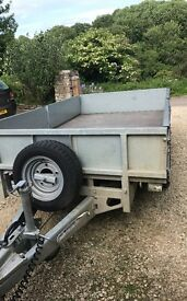 Ifor Williams LM105 trailer with sides, spare wheel and prop stand fitted