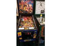 """Bally """"radical"""" pinball machine"""