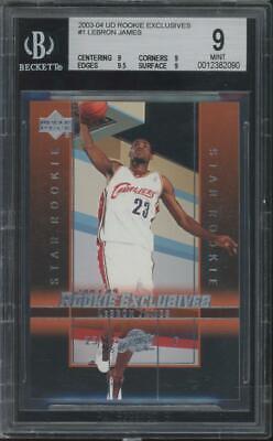 2003 Upper Deck Rookie Exclusives #1 LeBron James RC Rookie Mint BGS 9