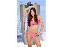 Stand up Sunbed - 20 x 180watt tubes, Refurbished Ex-hire Tanning Capsule . Walk in Home Sunbed
