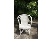 Annie Sloan upcycled wicker chair