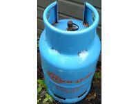 Butane gas bottle 13kg, almost full