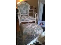 Absolutely Beautiful French Inspired Chair and Footstool