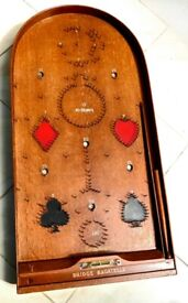 Bridge Bagatelle game from the thirties in fantastic condition - no missing pins!