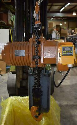Accolift 2 Ton 20ft Electric Chain Hoist 2130050-vfd-460 Nice