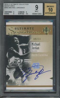 2010 Upper Deck Ultimate Collection #SMJ Michael Jordan 9/23 Mint BGS 9 10 Auto