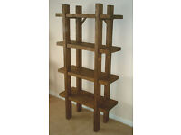 Hand Made Rustic Shelving Unit - Stained in jacobean oak