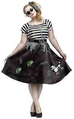 ZOMBIE SOCK HOP 1X Women's Costume Sock Hop Grease Halloween Party  Retro - Halloween Costumes Grease