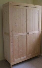 GORGEOUS NATURAL WOOD, 2 DOOR, WARDROBE (2 available), ONE DIFFERENT INTERNALLY
