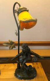 Vintage Tiffany Style Heavy Lamp