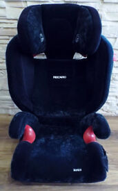 RECARO MONZA BLACK BOOSTER ISOFIX CAR SEAT ( 3-12 YEARS) (15-36kg)