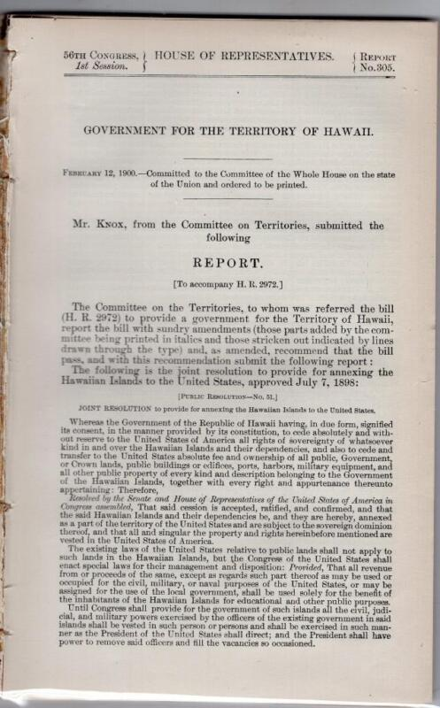 Government for the Territory of Hawaii