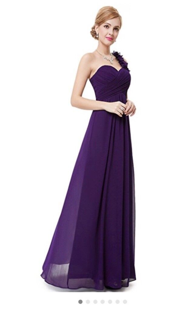 Full length deep purple bridesmaid dress | in Brighton, East Sussex ...