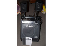 ROLAND V Drums PM-30 amp system monitor 200 watts sub and satellites - LOUD!!
