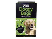 Pack of 5x 200 (Total 1000 Scented doggy bags) with easy tie handles