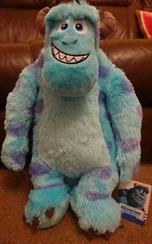 New Disney Monsters Inc Jumbo SULLEY XL Large Soft Toy ideal for birthday Present great gift