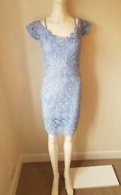 Lipsy Cornflower Blue Cold-Shoulder Dress