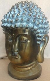 Large Golden Buddha Head Ornament