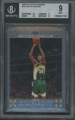2007 Topps Chrome #131 Kevin Durant RC Rookie Mint BGS 9