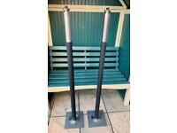 1x pair Blomus garden torches with extras (see description)